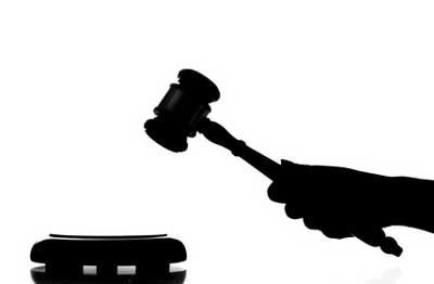 Gavel silhouette for arbitration